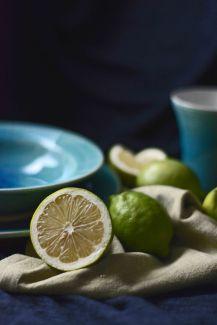 Zitrone mit Keramik